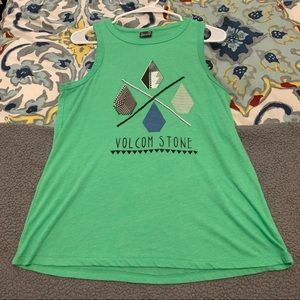 Volcom Women's Green Tank Top
